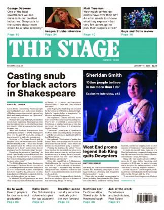 The Stage magazine cover