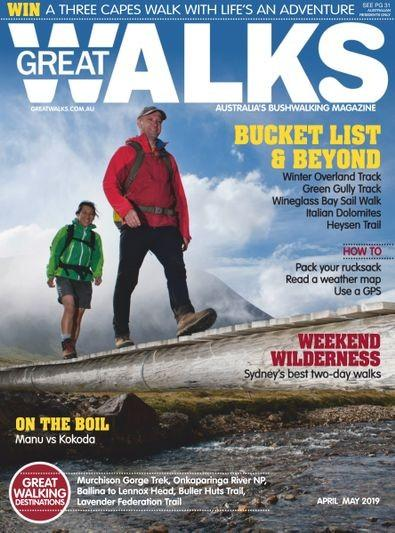 Great Walks magazine cover