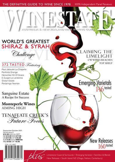 Winestate magazine cover