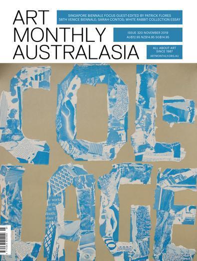 Art Monthly Australia magazine cover