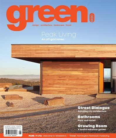 green (AU) magazine cover