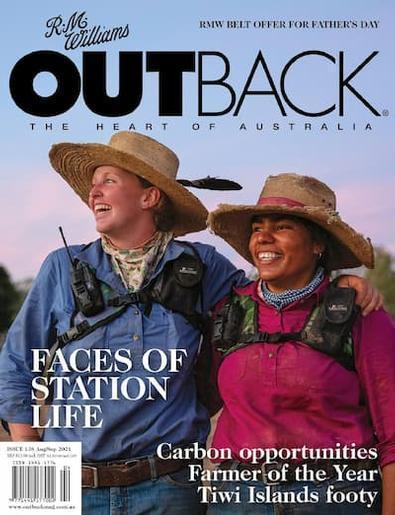 R.M.Williams Outback magazine cover