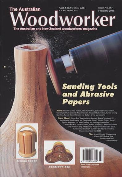 The Australian Woodworker magazine cover
