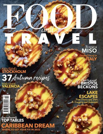 Food and Travel magazine cover