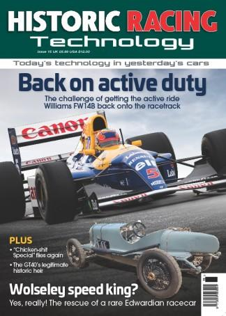 Historic Racing Technology magazine cover