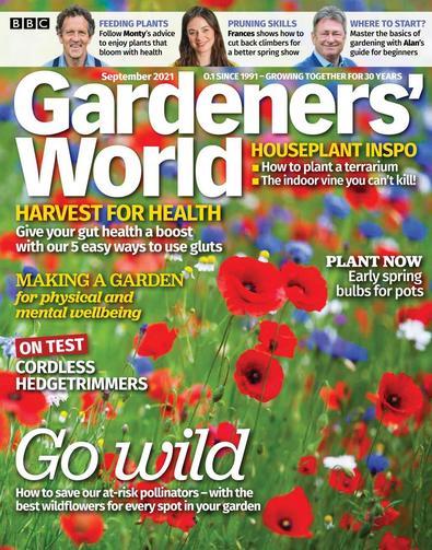 BBC Gardeners' World magazine cover