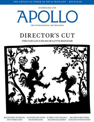 Apollo magazine cover