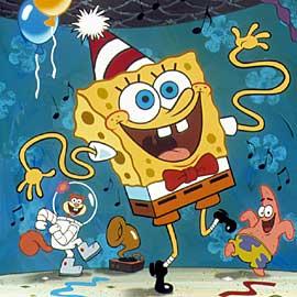 spongebob dance party