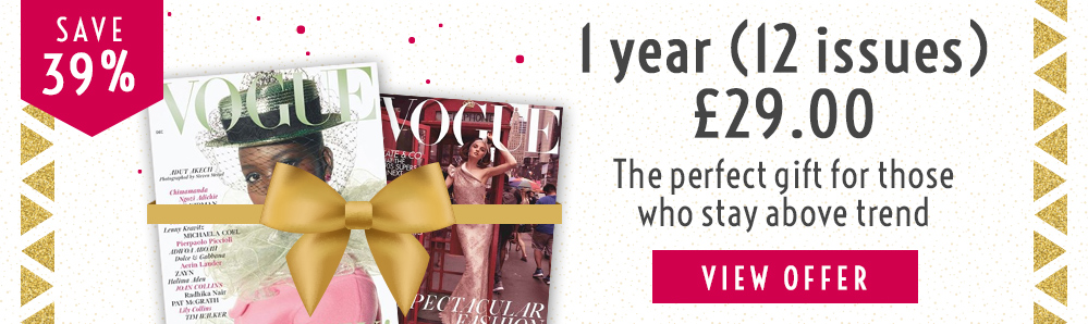 Vogue Magazine Subscription. 1 year for £29. Save 39%
