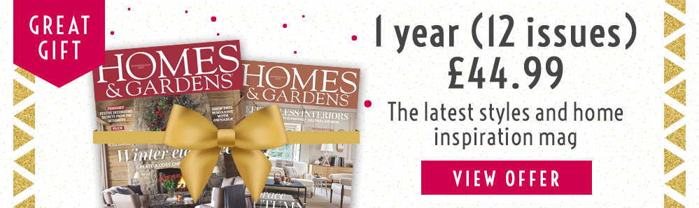 Homes & Gardens Magazine Subscription. 1 year for £44.99. Great Gift