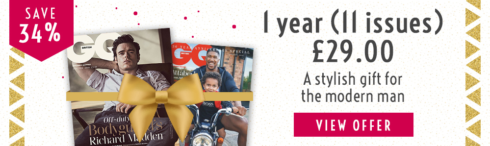GQ Magazine Subscription. 1 year for £29. Save 34%