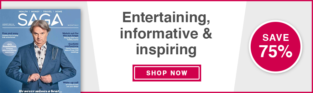 Saga Magazine Subscription. Entertaining, informative & inspiring. Subscribe from £12. Save 75%