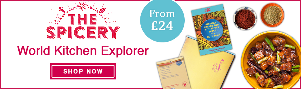 The Spicery's World Kitchen Explorer. Subscription Box. Food. Subscribe from £24