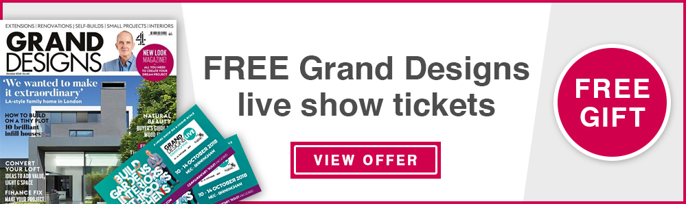 Free Grand Design Live Show tickets with a Grand Designs magazine subscription