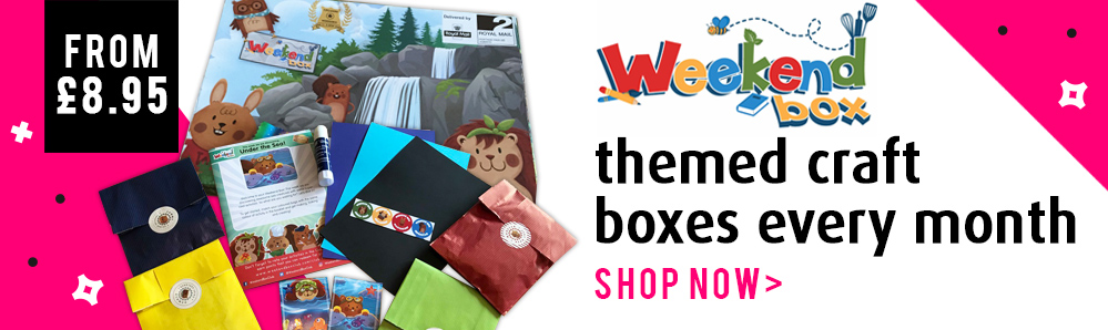 Weekend Box Subscription Box. Themed craft boxes every month. From £8.95
