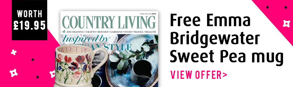 Country Living Magazine Subscription. Free Emma Bridgewater mug (worth £19.95)