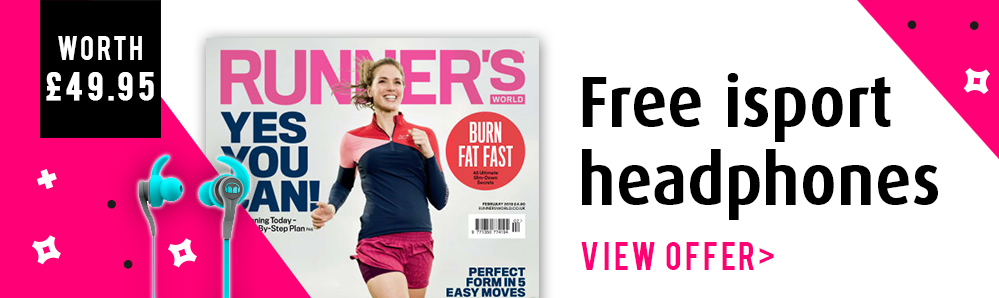 Runner's World Magazine Subscription. Free isport headphones (worth £49.95)