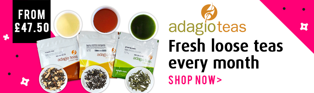 Adagio Tea Subscription Box. Fresh loose teas every month from £47.50