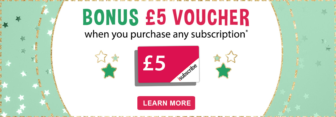 Bonus £5 isubscribe voucher with your purchase