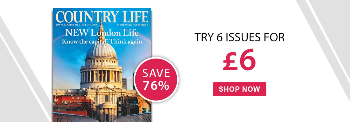 Country Life magazine 6 issues for £6 save 76%