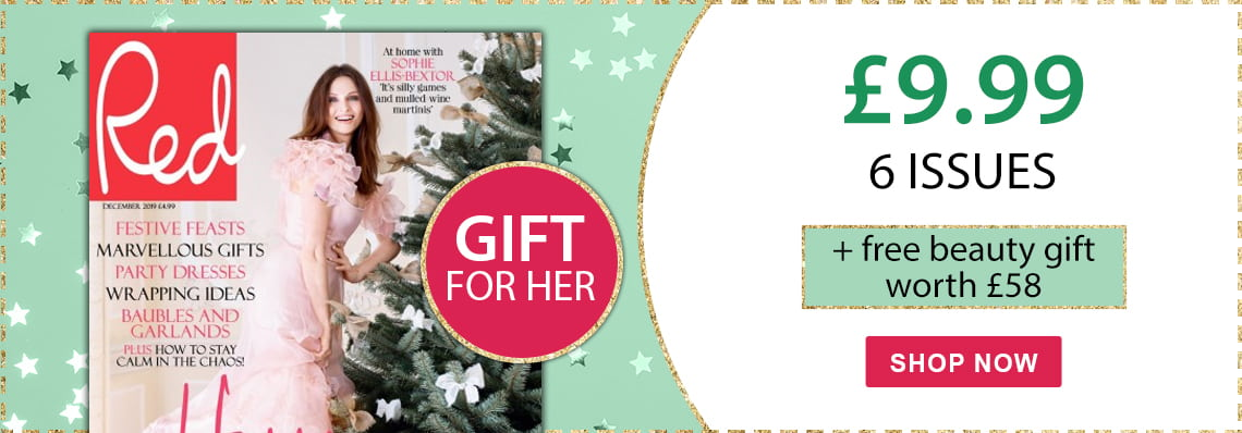 Red mag £9.99 6 issues plus beauty gift worth £58.99