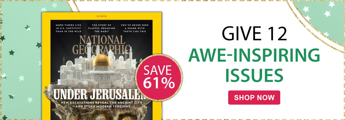 Save 61% on National Geographic, a great gift
