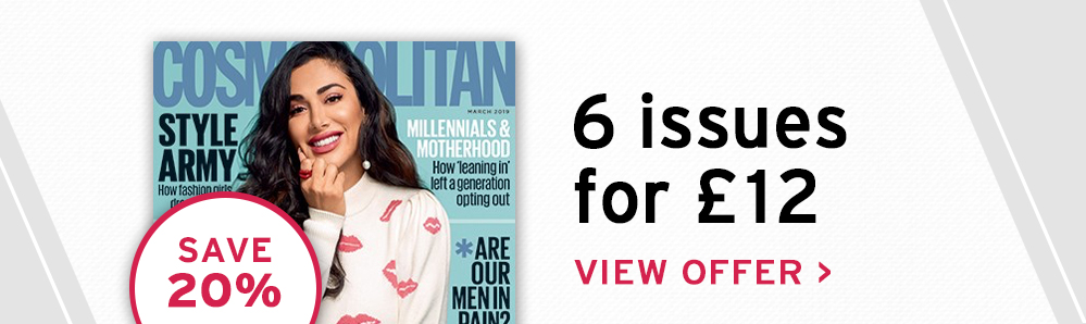 Cosmopolitan Magazine Subscriptions. 6 issues for £12. Save 20%