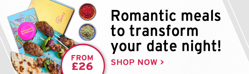 The Spicery Subscription Box. Romantic meals to transform your date night from £26.