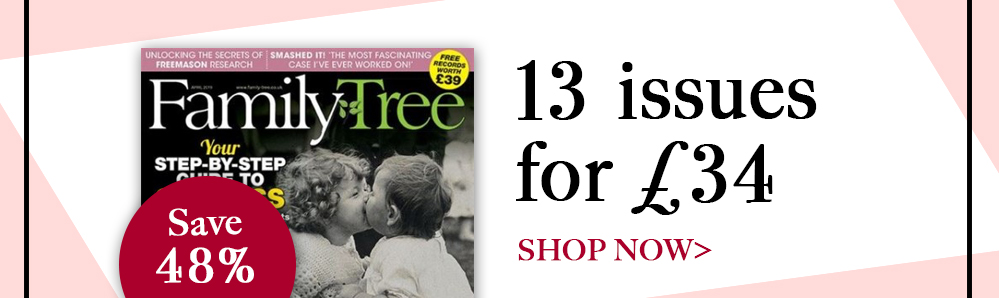 Family Tree Subscription Box. 13 issues for £34