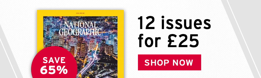 National Geographic Magazine Subscription. 12 issues for £25. Save 65%