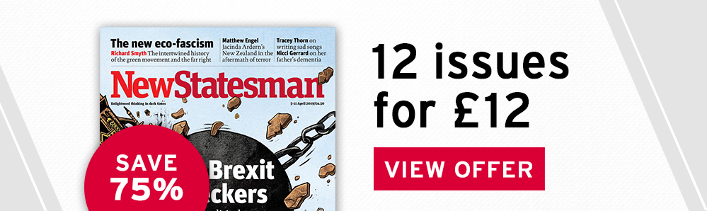 New Statesman Magazine Subscription. 12 issues for £12. Save 75%