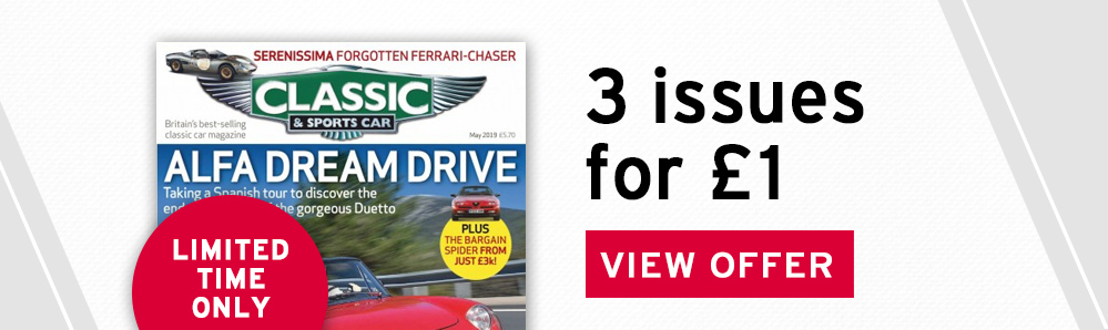 Classic & Sports Car Subscription Box. 3 issues for £1. Limited time only