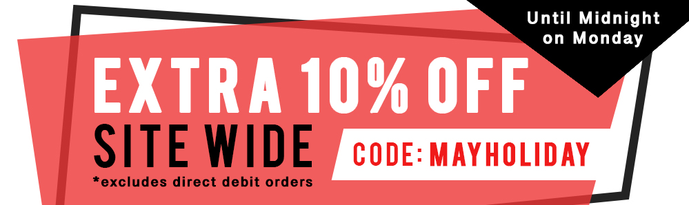 Extra 10% off site wide. use code MAYHOLIDAY