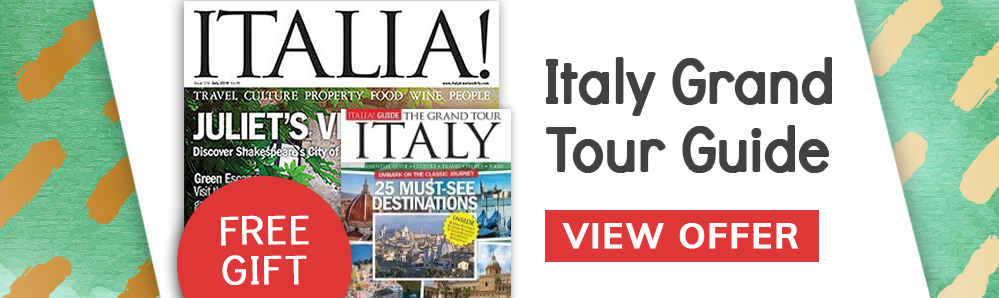 Free Italy Grand Tour Guide with Italia! Magazine subscriptions