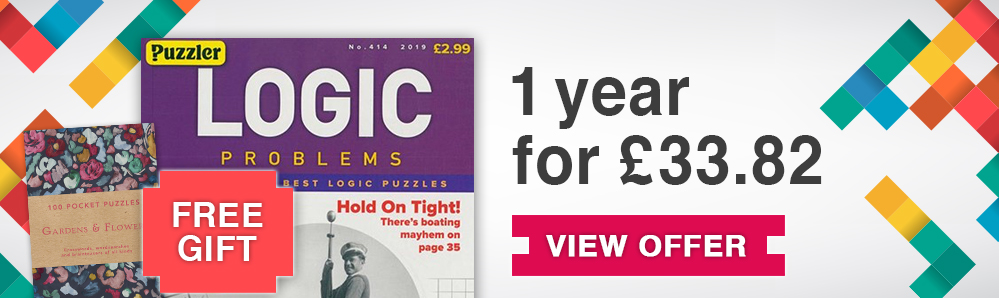 Logic Problems Magazine Subscription. 1 year for £33.82