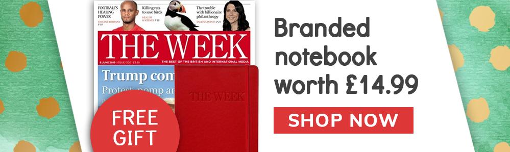 Free branded notebook worth £14.99 with The Week Magazine Subscription