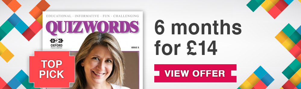 Quiz Words Magazine Subscription. 6 months for £14. Top Pick