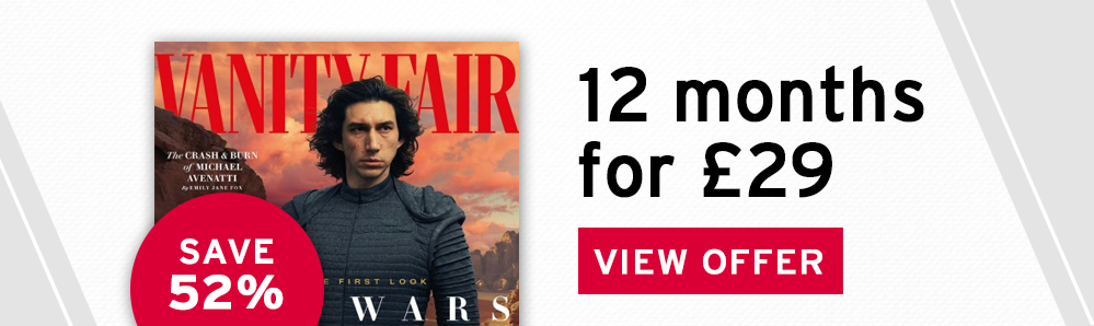 Vanity Fair Magazine Subscription. 12 months for £29. Save 52%