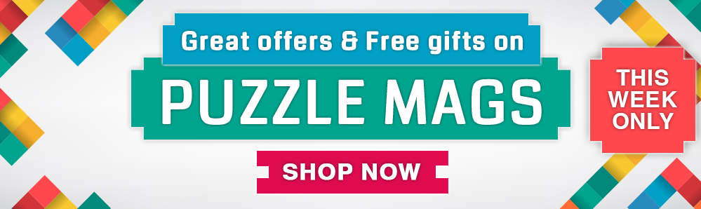 Great offers & free gifts on puzzle mags. This Week Only