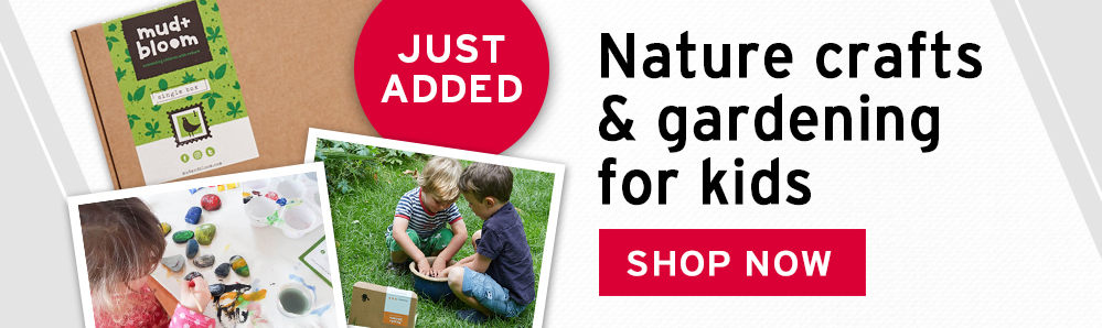 Mud + Bloom Subscription Box. Nature crafts & gardening for Kids.