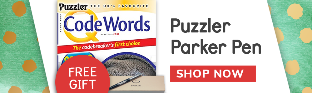 Free Puzzler Parker Pen with Q Code Words Magazine Subscription
