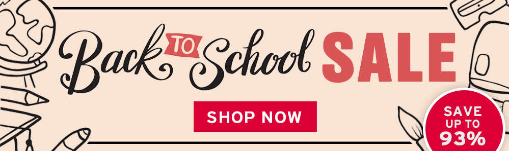 Back to School SALE. Save up to 93%
