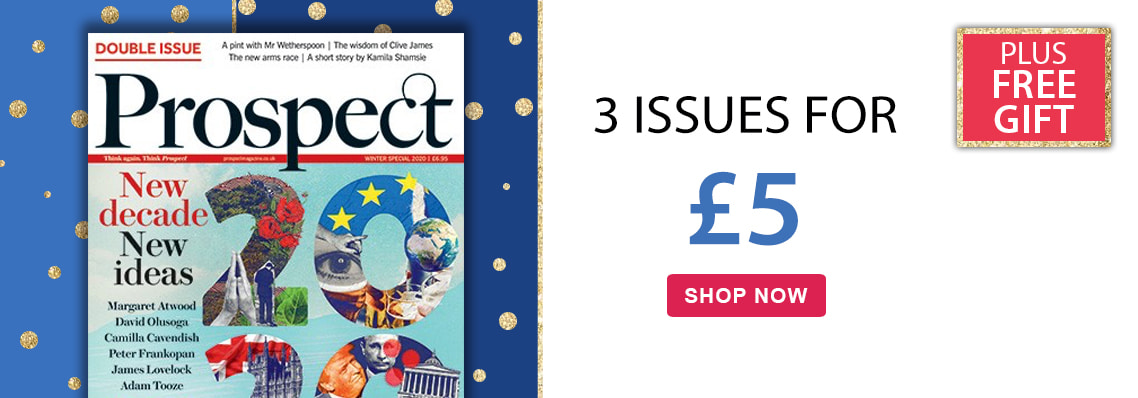 Prospect £5 for 3 issues plus free gift