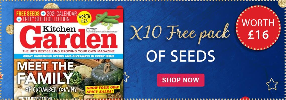 Kitchen Garden. X10 free pack of seeds