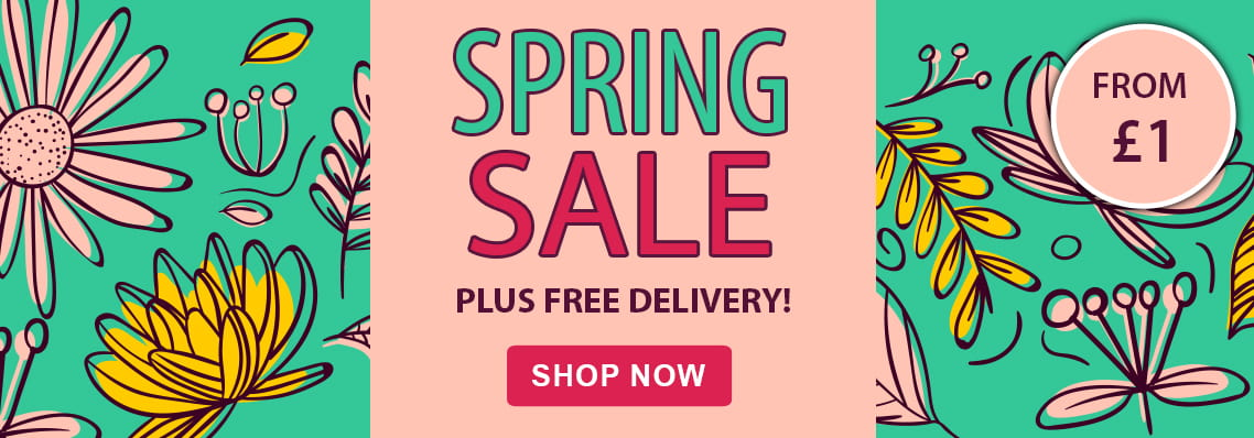 Spring Sale, offers from £1 plus free uk delivery