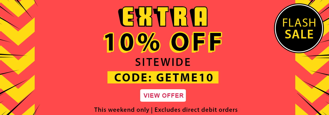 FLASH SALE EXTRA 10% off this weekend