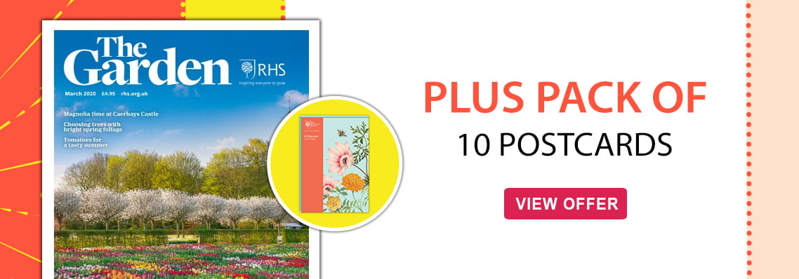 RHS The Garden mag, free postcards