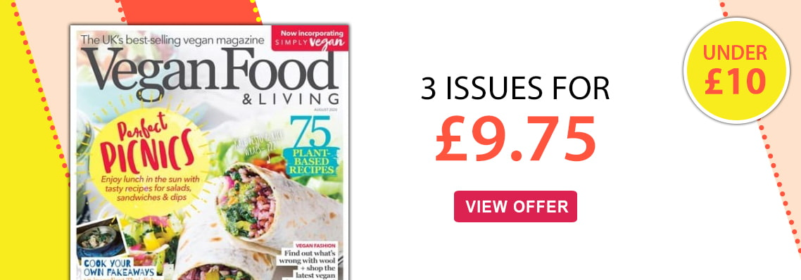 vegan food and living 3 issues for £9.75