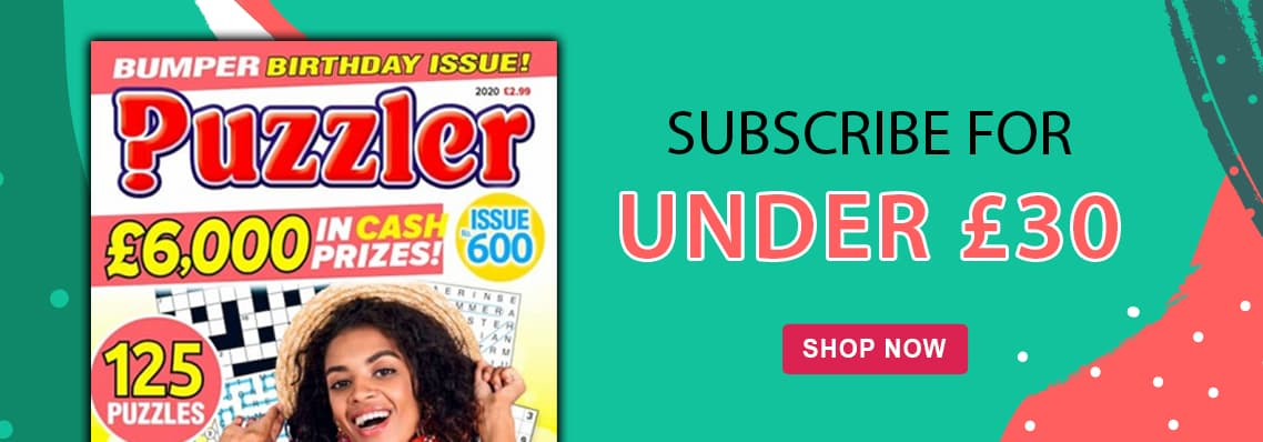 Puzzler, Subscribe for under £30